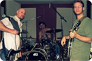 Buffalocomotive - The soon-to-be Buffalocomotive in a recording session for the then untitled Tears Of The Enchanted Mainframe circa 2009.