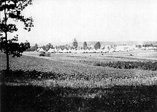 Camp Alger Virginia, a military camp established in 1898 for the Spanish–American War