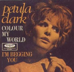 Colour My World (Petula Clark song) - Image: Colormyworld