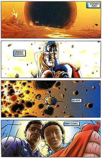 Origin of Superman - Image: Compressed Origin