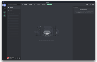 Discord (software) - Image: Discord screenshot