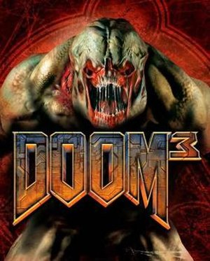 Doom 3 - The box art for Doom 3 displays a Hell-Knight against the background of a pentagram.