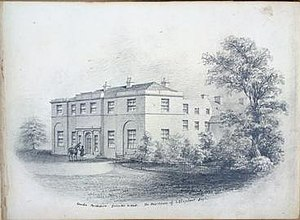 James Oliphant - Drawing of Newton of Condie by Thomas Oliphant (circa 1853), Col. James Oliphant's birthplace and ancestral home.