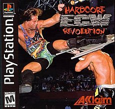 ECW Hardcore Revolution box art for the PlayStation