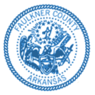Faulkner County, Arkansas - Image: Faulkner County, Arkansas official seal