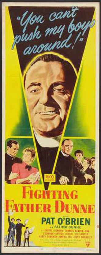 Fighting Father Dunne - Theatrical poster of the film