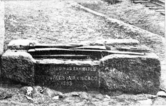 Granite Railway - Image: Frog Switch of the Granite Railway displayed at the Chicago World's Fair in 1893
