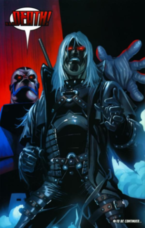 Gambit (comics) - Gambit as the Horseman of Death. Art by Salvador Larroca.