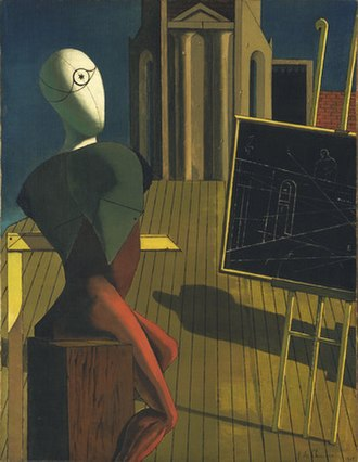 Giorgio de Chirico - The Seer, 1914–15, oil on canvas, 89.6 × 70.1 cm, Museum of Modern Art