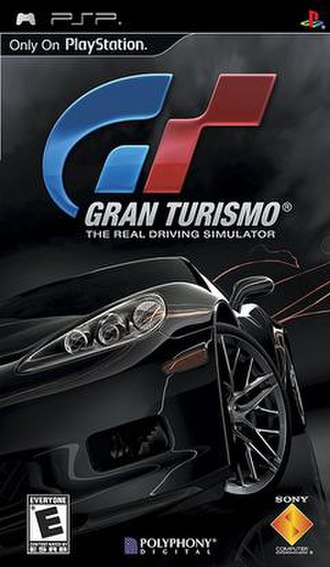 Gran Turismo (PSP) - North American cover art featuring the Chevrolet Corvette ZR1