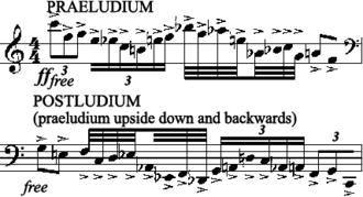 Ludus Tonalis - Opening and second to last measures of the piece. From the first and final movements, respectively.