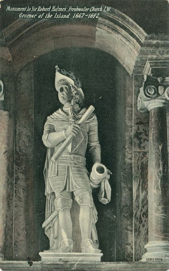 Robert Holmes (Royal Navy officer) - Statue of Holmes in Yarmouth Parish Church.