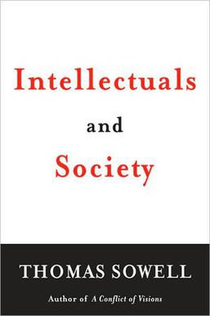 Intellectuals and Society - Cover of the hardcover edition