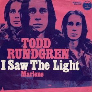 I Saw the Light (Todd Rundgren song) - Image: Isawthelight 45