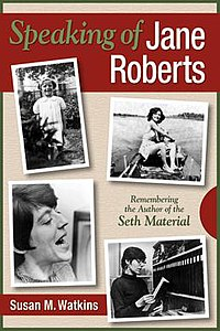 Photographs of Jane Roberts on the cover of her biography by Susan Watkins