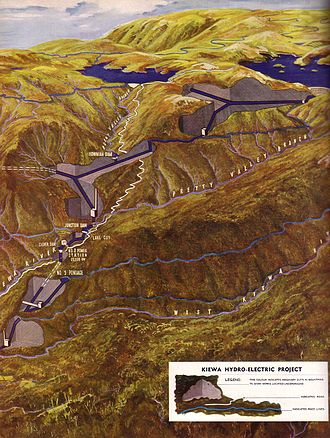 Kiewa Hydroelectric Scheme - The scheme as intended by the SECV in 1948