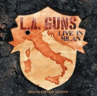 The Missing Peace (album) - Image: LA Guns Made In Millan Cover