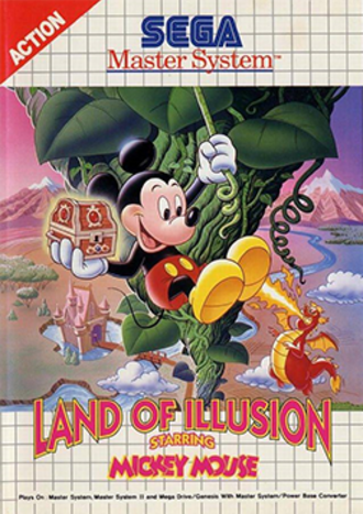 Land of Illusion Starring Mickey Mouse - Master System cover art