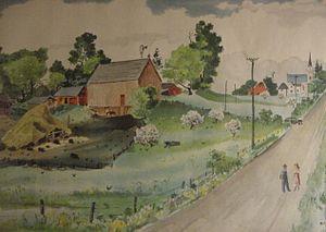 Adolf Dehn - Adolf Dehn, Landscape with Farm, 1947, watercolor, photo by Prof. Joseph Bonfanti.