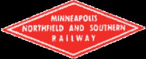 Minneapolis, Northfield and Southern Railway - Image: MNS Rwy