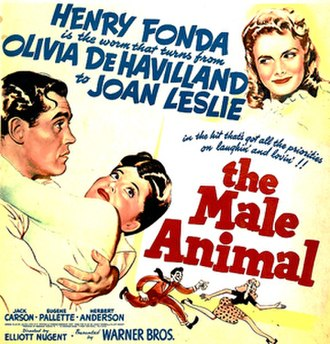 The Male Animal - Theatrical release poster