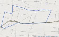 90018 Zip Code Map.Mid City Los Angeles Wikipedia