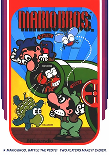 Player characters Mario and Luigi surrounded by the three enemies in the game.