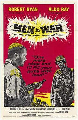 Men in War - Original film poster