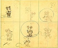 Concept Art Of Mickey From Early 1928 The Sketches Are Earliest Known Drawings Character Collection Walt Disney Family Museum
