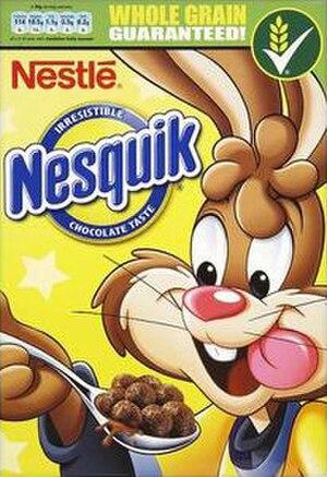 Nesquik (cereal) - Nesquik UK box design