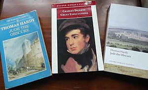 Oxford World's Classics - Three different cover designs of the Oxford World's Classics series. From left to right: 1987, 1993, 2009.