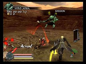 The Sword of Etheria - Typical enemy encounter showing Fiel partnered with Leon and Almira (not shown in the screen).