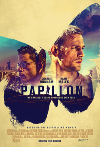 Papillon (2017 film) - Theatrical release poster