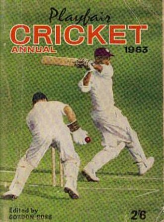 Playfair Cricket Annual - Cover of 1963 edition of the Playfair Cricket Annual