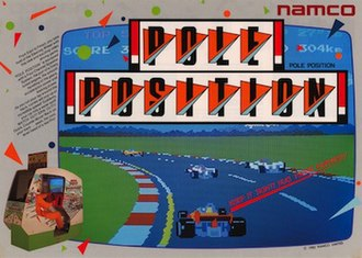 Pole Position - Arcade flyer