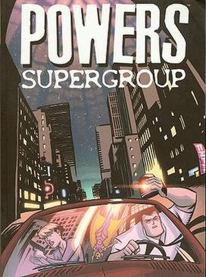 Powers (comics) - The cover of Supergroup, a compilation of issues 15 to 20.