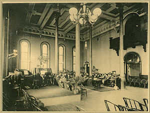 Athens Lunatic Asylum - Photo of the ballroom before a fire broke out and it was divided into two floors to help ease space restrictions.
