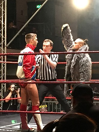 Zack Sabre Jr. - Sabre (left) in January 2017
