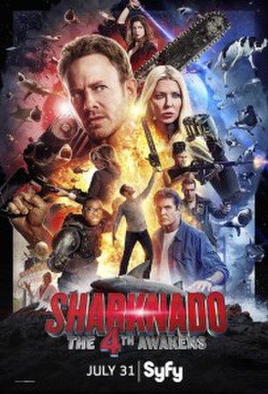 Sharknado: The 4th Awakens - Theatrical release poster