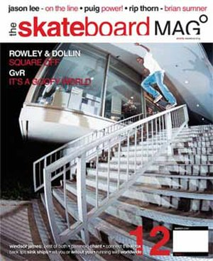 The Skateboard Mag - March 2006 Cover of Skateboard Magazine