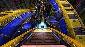 Sonic Generations - Gameplay in Chemical Plant, the game's second level. Classic Sonic's levels are played from a 2D perspective (top) while modern Sonic's are played from a 3D perspective (bottom).