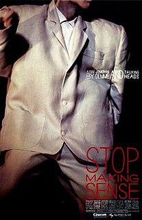 <i>Stop Making Sense</i> 1984 American film by Jonathan Demme
