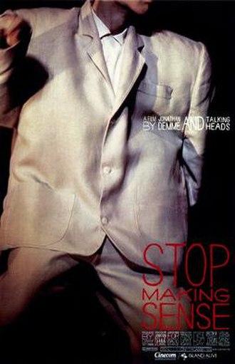 Stop Making Sense - Image: Stop making sense poster original
