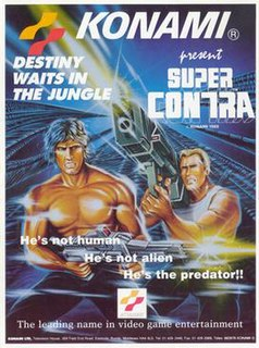 <i>Super Contra</i> 1988 video game sequel to Contra, produced by Konami