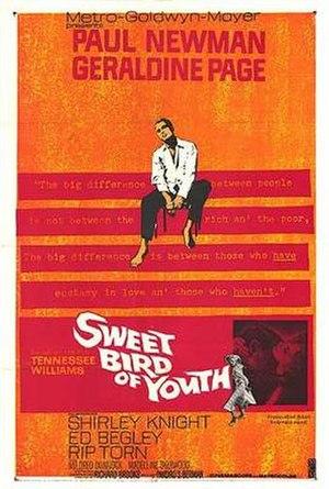 Sweet Bird of Youth (film) - original movie poster