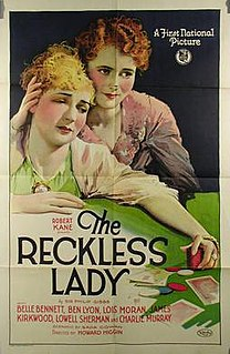 <i>The Reckless Lady</i> 1926 film