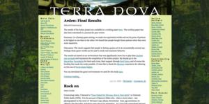 Terra Nova (blog) - Image: Tnscreen
