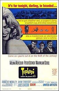 <i>Topkapi</i> (film) 1964 American film directed by Jules Dassin