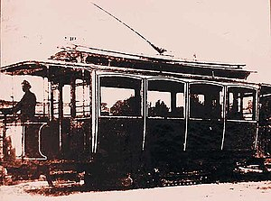 One of the earliest Kiev tram wagons, construc...