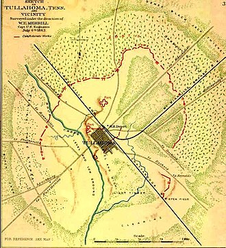 33rd Regiment Alabama Infantry - Confederate defensive works at Tullahoma, Tennessee